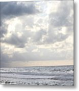 Clouds By The Sea Metal Print