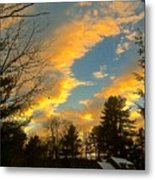 Clouds Catching The Evening Light Metal Print