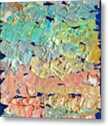 Clouds. Colorful Painter Palette. Exhausted Paint And Abstract Painting. Metal Print