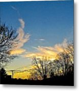 Clouds Dancing To The Sunset Light Metal Print