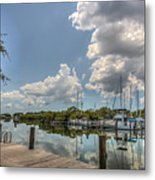 Clouds Down The Bay Metal Print