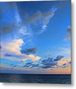 Clouds Drifting Over The Ocean Metal Print