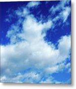 Clouds In A Beautiful Blue Sky Metal Print