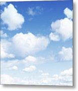 Clouds In Blue Sky Metal Print