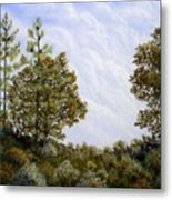 Clouds In Foothills Metal Print