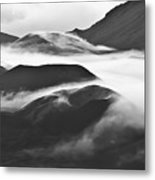Maui Hawaii Haleakala National Park Clouds In Haleakala Crater Metal Print