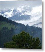 Clouds In The Rockies Metal Print