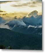 Clouds In The Smoky's Metal Print
