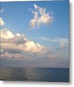 Clouds Meet Ocean Metal Print