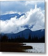 Clouds On The Mountains Metal Print