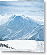Clouds On The Top Of The Ridge Metal Print