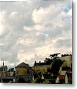 Clouds Over Amboise Metal Print