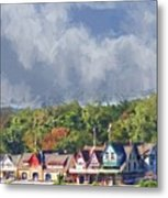 Clouds Over Boathouse Row Metal Print
