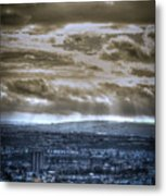 Clouds Over Bristol Hdr Split Toning Metal Print