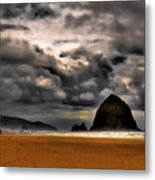 Clouds Over Cannon Beach Metal Print