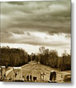 Clouds Over Cemetery Metal Print