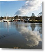 Clouds Over Cockwells Boatyard Mylor Bridge Metal Print