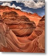Clouds Over Coyote Buttes North Metal Print