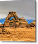 Clouds Over Delicate Arch Metal Print
