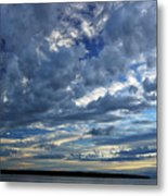 Clouds Over English Bay From Sunset Beach Vancouver Metal Print
