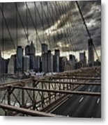Clouds Over Manhattan Metal Print