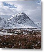 Clouds Over Mountains, Glencoe, Scotland Metal Print