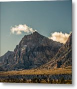 Clouds Over Red Rock Canyon Metal Print
