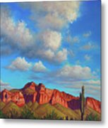Clouds Over Superstitions Metal Print