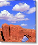 Clouds Over The Arches Metal Print