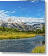 Clouds Over The Grand Tetons Metal Print
