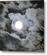 Clouds Over The Moon Metal Print