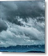 Clouds Over The Mountans 1329tmt Metal Print