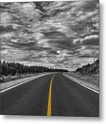 Clouds Over The Trail 2 Metal Print