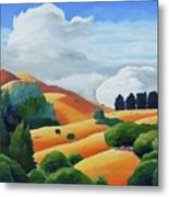 Clouds Over Windy Hill Metal Print