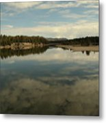 Clouds Reflecting In An Alpine Lake.  Metal Print