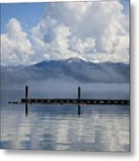Clouds Reflecting Off Priest Lake Metal Print