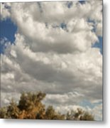Clouds Rising Palm Springs Metal Print