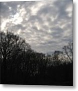 Clouds Roll Over The Sky Metal Print