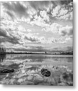 Clouds Touching The Water Metal Print