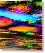 Clouds With Attitude Metal Print