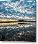 Cloudscape - Reflection Of Sky In Wichita Mountains Oklahoma Metal Print