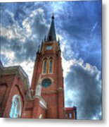 Cloudy Assumption Metal Print