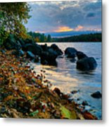 Cloudy Autumn Sunset Metal Print