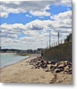Cloudy Beach Metal Print by Extrospection Art