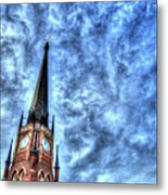 Cloudy Cathedrial Painting Metal Print