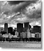 Cloudy Day Chicago - 2 Metal Print