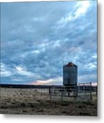 Cloudy Day On The Ranch Metal Print