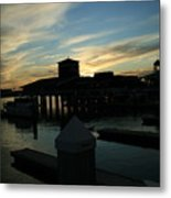 Cloudy Docks Metal Print