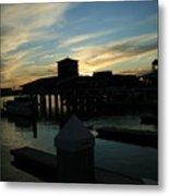 Cloudy Docks Metal Print
