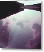 Cloudy Lake Metal Print